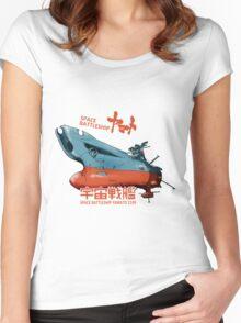 JAPAN ANIME SPACE BATTLESHIP YAMATO STAR BLAZERS COSMO  Women's Fitted Scoop T-Shirt