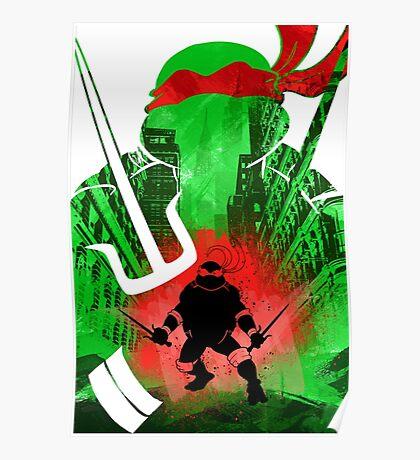 Raphael Ninja Turtle Poster