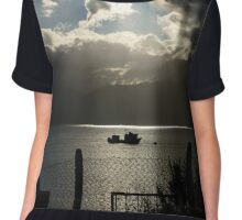 Light and darkness at the sea Chiffon Top