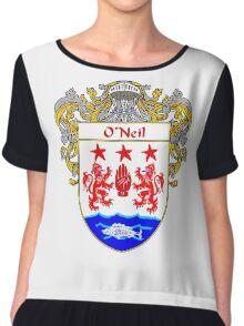 O'Neil Coat of Arms / O'Neil Family Crest Chiffon Top