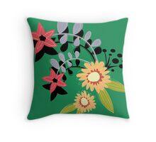 crafty flowers Throw Pillow