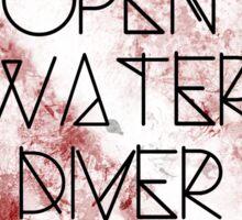 Open Water Diver Sticker