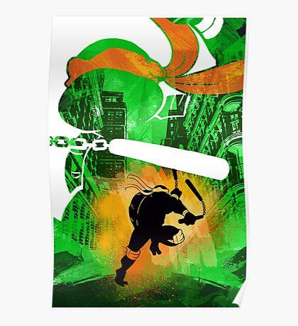 Michaelangelo Ninja Turtle Poster