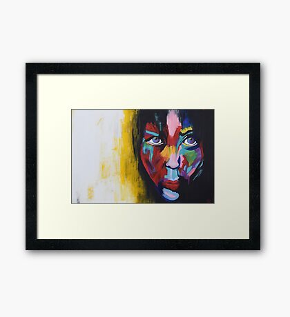 Woman of Earth Framed Print