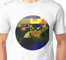 Captain Falcon Glitched Ellipse Unisex T-Shirt