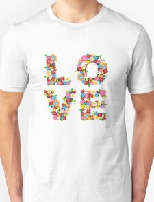 LOVE Spring Flowers Unisex T-Shirt