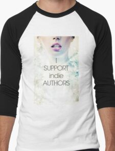 I SUPPORT indie Authors Men's Baseball ¾ T-Shirt