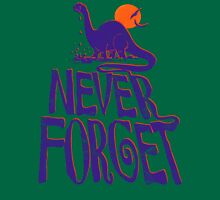 Never Forget Crying Purple Brontosaurus Unisex T-Shirt