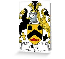 Oliver Coat of Arms / Oliver Family Crest Greeting Card