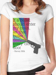 'If a bullet should enter my brain...' Women's Fitted Scoop T-Shirt