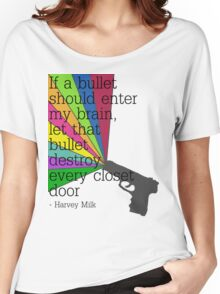 'If a bullet should enter my brain...' Women's Relaxed Fit T-Shirt