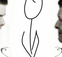 Fringe White Tulip Sticker