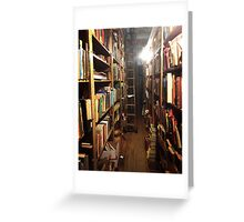 Lost in a Timeless Library  Greeting Card