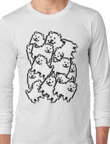 Undertale annoying dog collage Long Sleeve T-Shirt