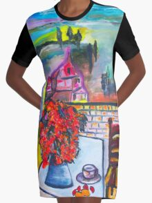 Room With A View Graphic T-Shirt Dress
