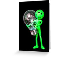 Alien Idea Greeting Card