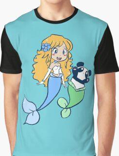 Mermaid and MerPanda Graphic T-Shirt