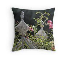 Rose Arch Throw Pillow