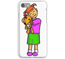 A girl and her dog iPhone Case/Skin
