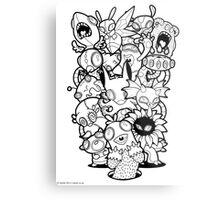 The Monsters In My Mind Metal Print