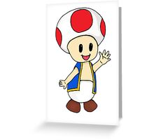Toad, Super Mario Greeting Card