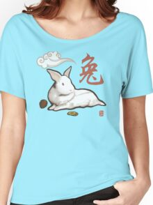 Lionhead Rabbit Sumi-E Women's Relaxed Fit T-Shirt