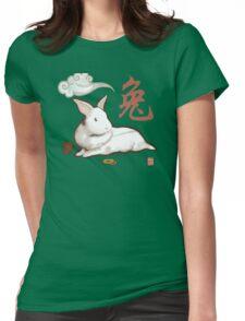 Lionhead Rabbit Sumi-E Womens Fitted T-Shirt