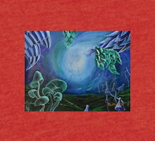 Dragonleaf among the mystical magic mushroom fields Tri-blend T-Shirt