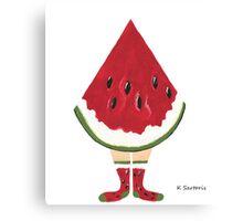 Watermelon Feet Canvas Print