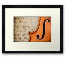 Antique Violin Framed Print
