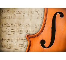 Antique Violin Photographic Print