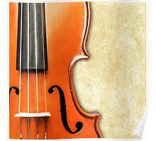 Vintage Violin Poster