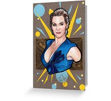 Kate Winslet Watercolor portrait Greeting Card