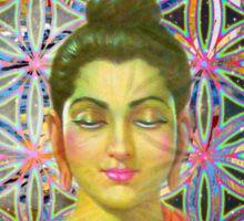 Sacred Geometry Buddha Sticker