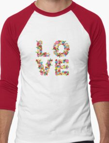 LOVE Spring Flowers Men's Baseball ¾ T-Shirt