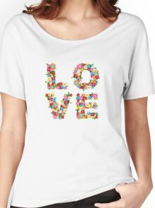 LOVE Spring Flowers Women's Relaxed Fit T-Shirt