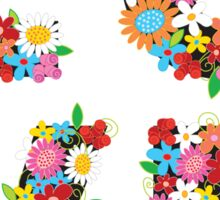LOVE Spring Flowers Sticker