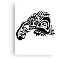 LoL - Volibear Black & White Canvas Print