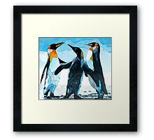 Three Penguins Framed Print