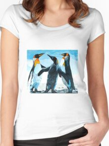 Three Penguins Women's Fitted Scoop T-Shirt