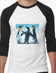 Three Penguins Men's Baseball ¾ T-Shirt