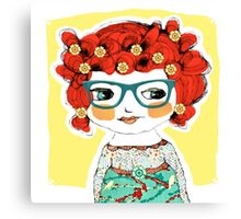 cool girls wear glasses -- charlotte Canvas Print