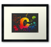 Cosplay Flag/symbol black Framed Print