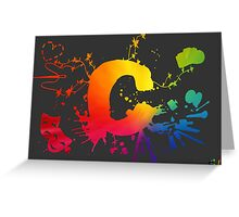 Cosplay Flag/symbol black Greeting Card