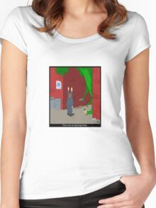 Not-so-giving tree Women's Fitted Scoop T-Shirt