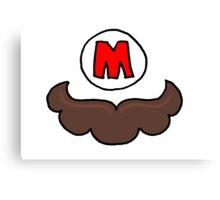 Mario Moustache Canvas Print
