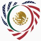 Mexican American Multinational Patriot Flag Series 2.0 by Carbon-Fibre Media