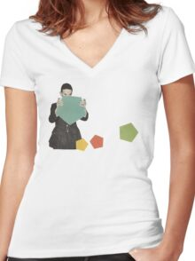 Discovering New Shapes Women's Fitted V-Neck T-Shirt