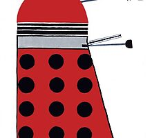 Dalek (Red) by thedaintydalek