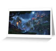 The Fortress Of The People Of The Moon Greeting Card